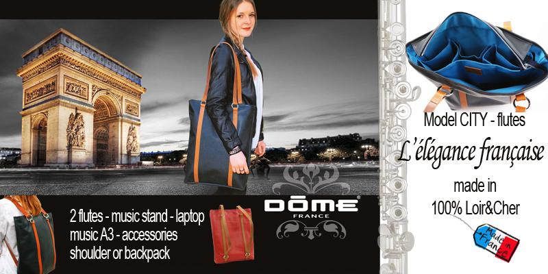 Dome france tot bag for flute city bag